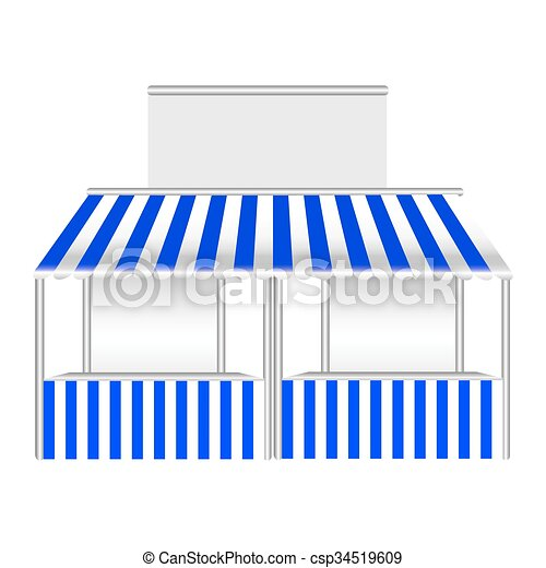 Detailed vector illustration of a stall. - csp34519609