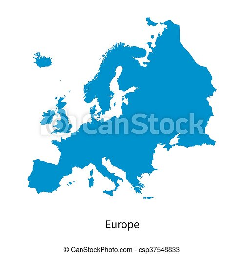 Detailed vector map of Europe - csp37548833