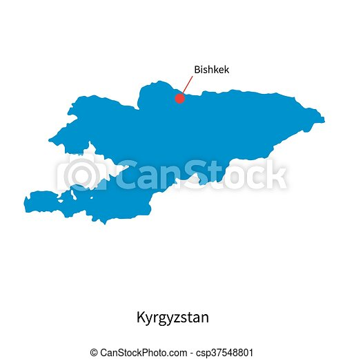 Detailed vector map of kyrgyzstan and capital city bishkek detailed vector map of kyrgyzstan and capital city bishkek publicscrutiny Gallery