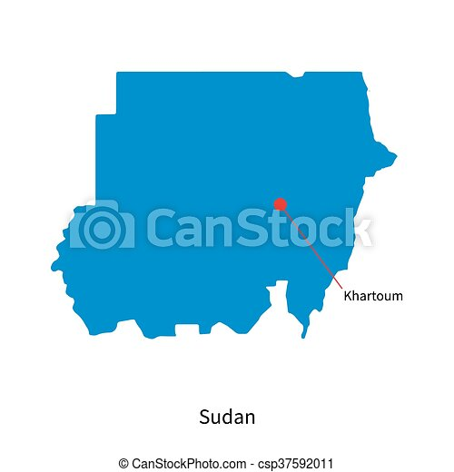 Detailed vector map of Sudan and capital city Khartoum on luanda on world map, abidjan on world map, new delhi on world map, mongolia on world map, lagos on world map, johannesburg on world map, algiers on world map, dakar on world map, cairo on world map, cape town on world map, tripoli on world map, mogadishu on world map, mosul on world map, sudan on world map, casablanca on world map, riyadh on a world map, ottawa on world map, nairobi on world map, kinshasa on world map, addis ababa on world map,