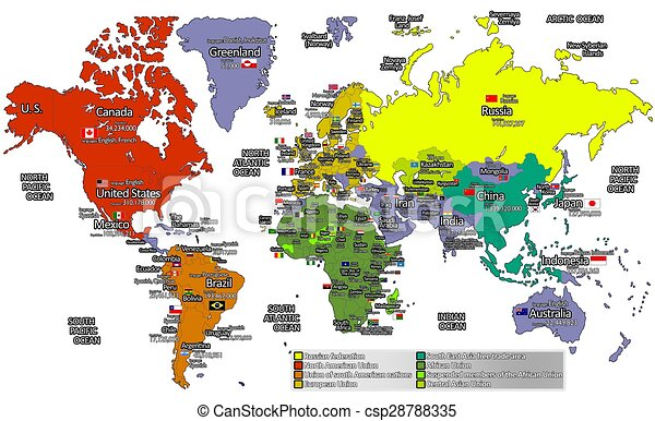 Detailed world map the world map with the details of all countries detailed world map csp28788335 gumiabroncs Image collections