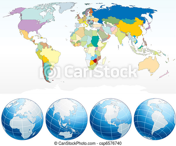 Detailed world map with countries political map with vector detailed world map csp6576740 gumiabroncs Image collections