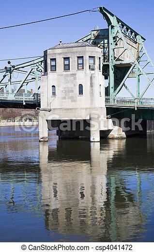 Details of Historic bridge in Joliet - csp4041472