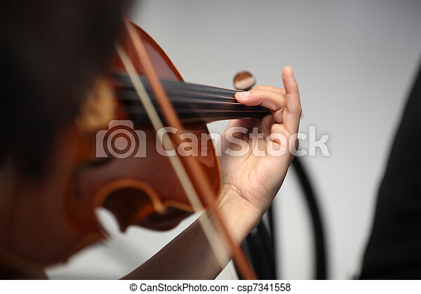 details of musicians to play a symphony  - csp7341558