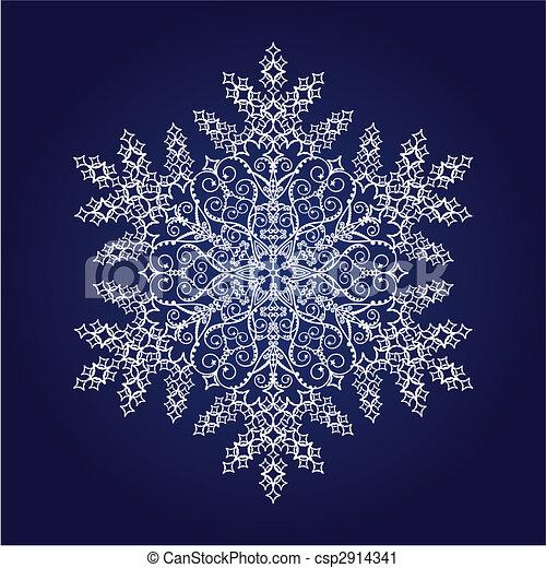 detallado, solo, copo de nieve - csp2914341