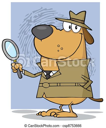 Detective Dog - csp8753666