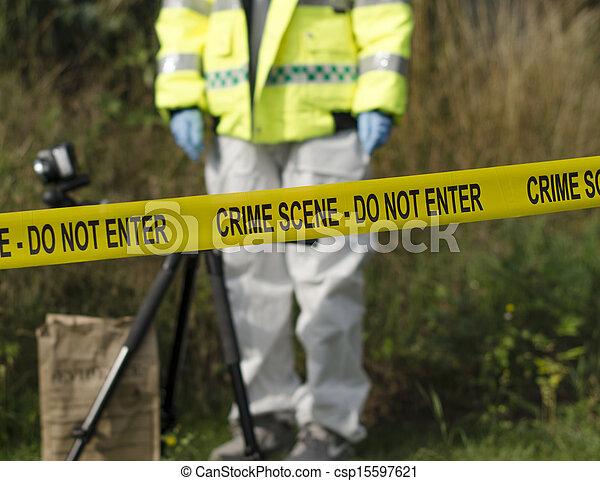Detective de escena del crimen - csp15597621