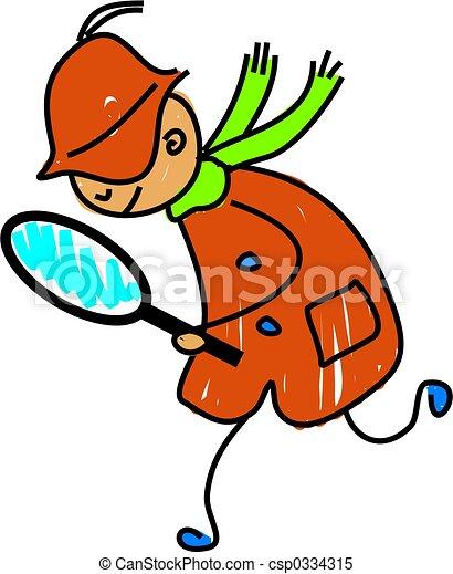 detective, geitje - csp0334315