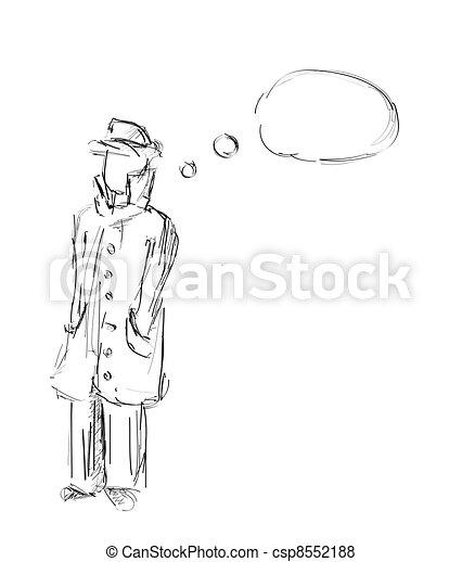 Detective Hand drawn sketch - csp8552188