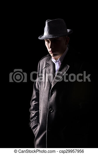 Detective in hat - csp29957956