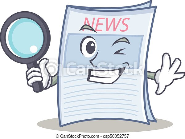 detective newspaper character cartoon style vector clipart vector rh canstockphoto com clip art newspaper headlines clip art newspaper template