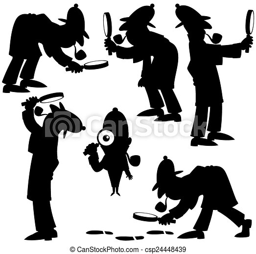 Detective Silhouettes - csp24448439