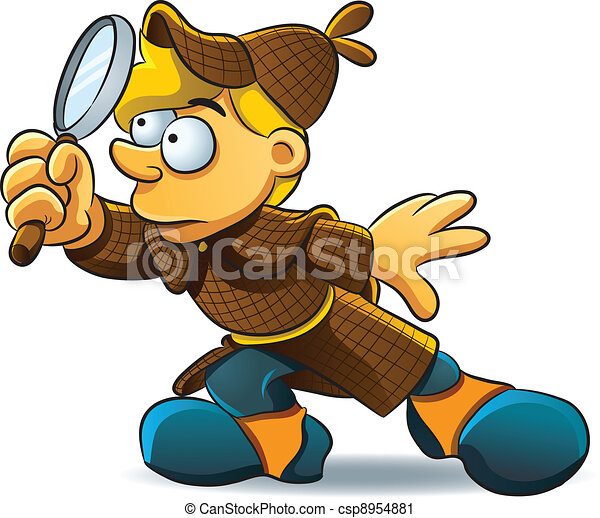 detektiv, untersuchen - csp8954881