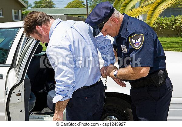 Arrestado en público - csp1243927