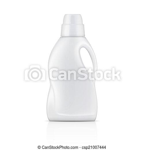 detergent., fehér, mosoda, palack, folyékony - csp21007444