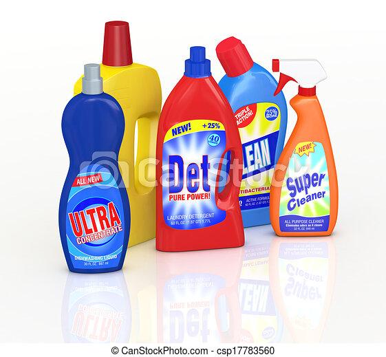 Detergente Botellas Conjunto Botellas 3d Etiquetas