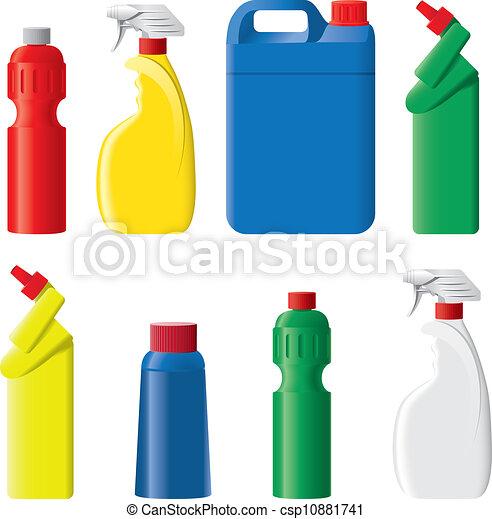 detergente conjunto botellas plstico vector - Botellas Plastico