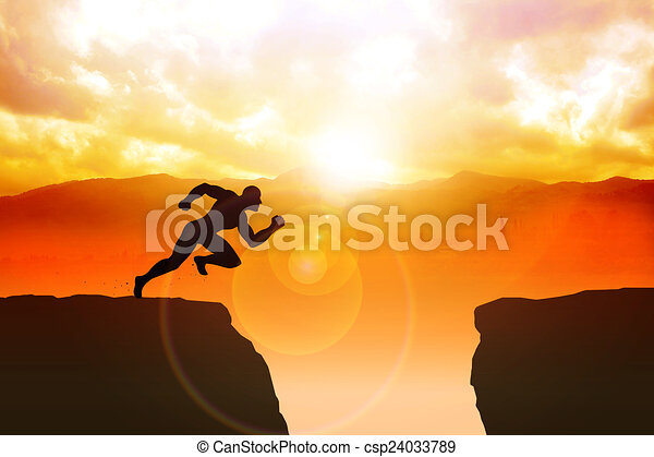 determination silhouette illustration of a male figure sprinting to