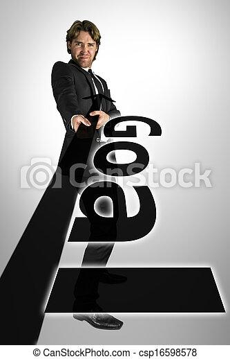 Determined businessman - csp16598578