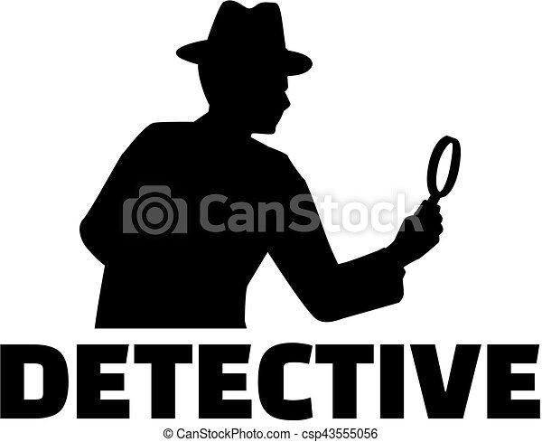detetive, trabalho, título - csp43555056