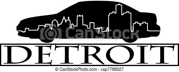Detroit car - csp7788027