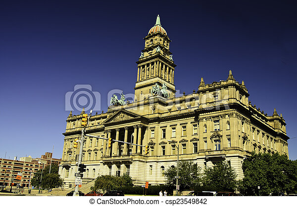 Detroit City Hall - csp23549842