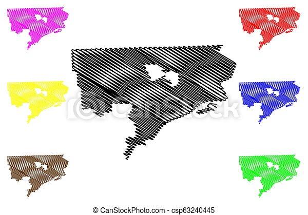 Detroit City map on