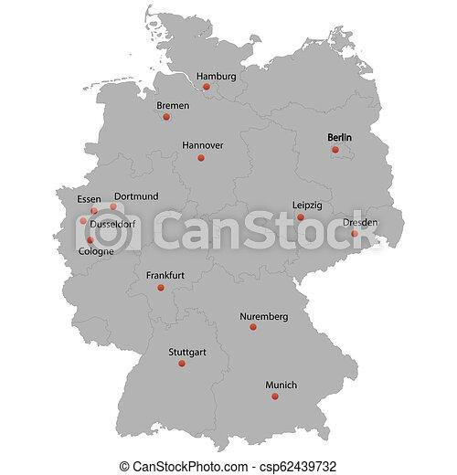 Dortmund Germania Cartina.Dettagliato Mappa Germania Dettagliato Mappa Citta Germania Canstock
