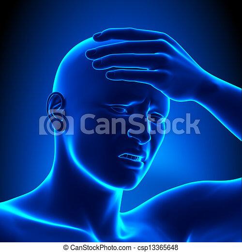 dettaglio, mal di testa - csp13365648