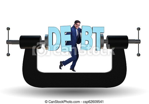 dette, concept, emprunt, business - csp62609541