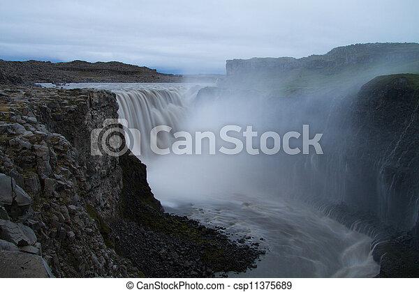 dettifoss, vízesés, izland - csp11375689