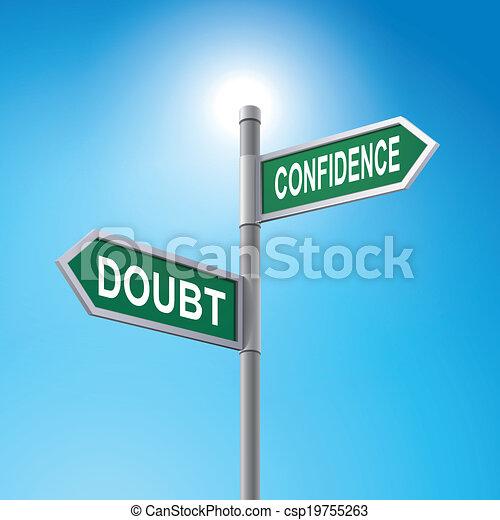 detto, fiducia, segno, dubbio, strada, 3d - csp19755263