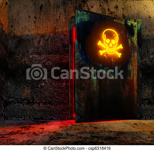 deur, gevaar - csp6318416