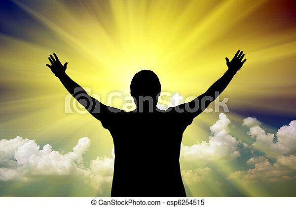deus, adoração - csp6254515