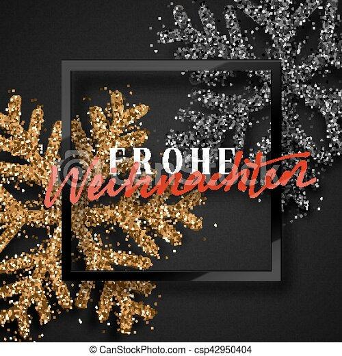 Deutsch Frohe Weihnachten Frohlich Weihnachten Inscription