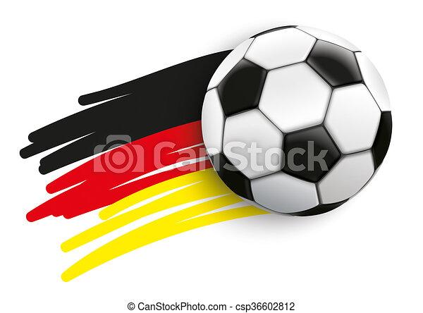 Die Deutsche Flagge Fliegt Football Deutsche Flagge Mit