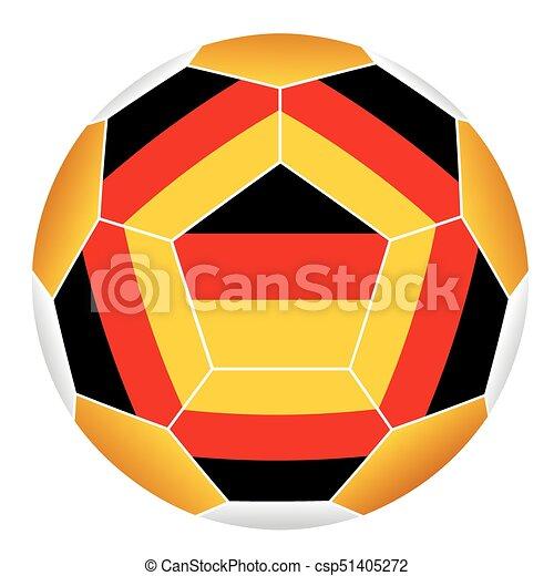 Deutschlandflagge Fussball Ball
