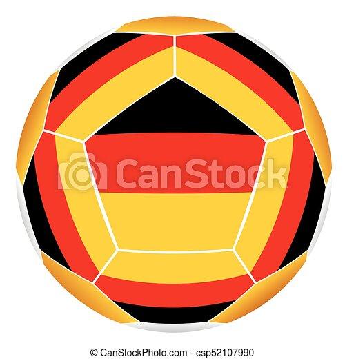 Deutschlandflagge Fussball Ball Kugel Deutsch