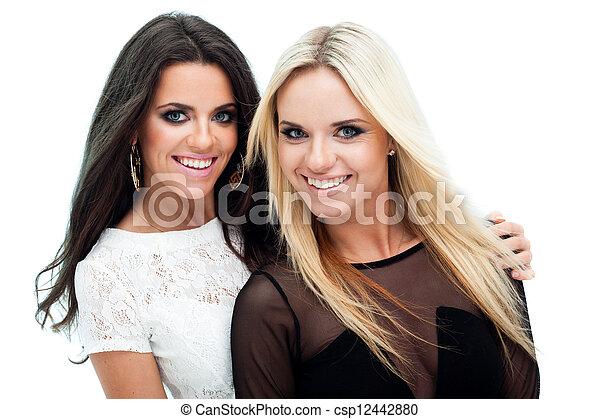 deux, petites amies - csp12442880