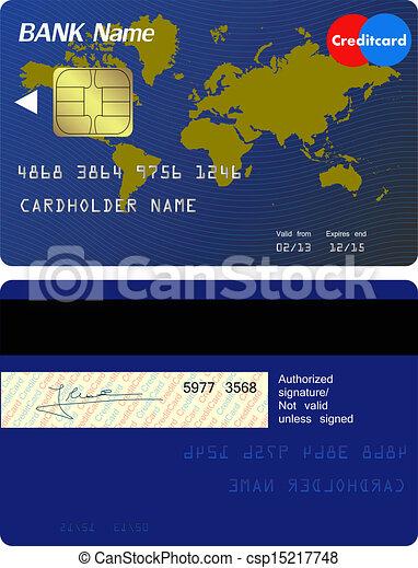 devant, crédit, dos, carte - csp15217748