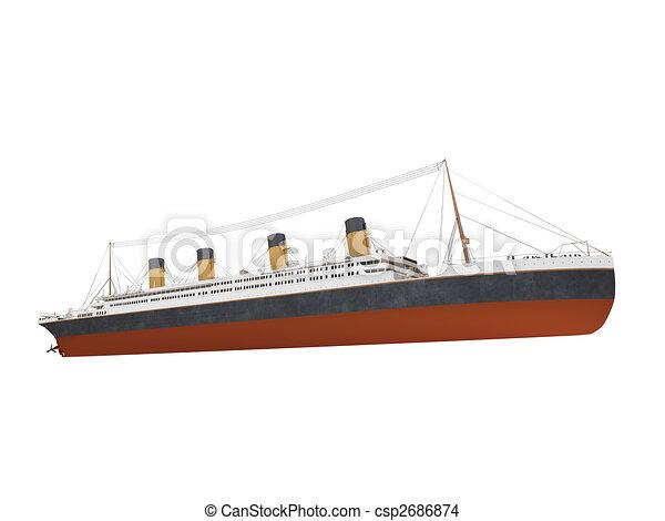 Devant grand bateau paquebot vue bateau blanc sur - Paquebot dessin ...
