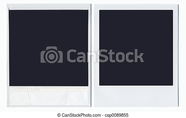 devant, polaroid, dos - csp0089855
