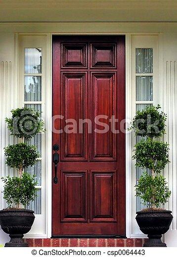 devant, topiary, porte - csp0064443