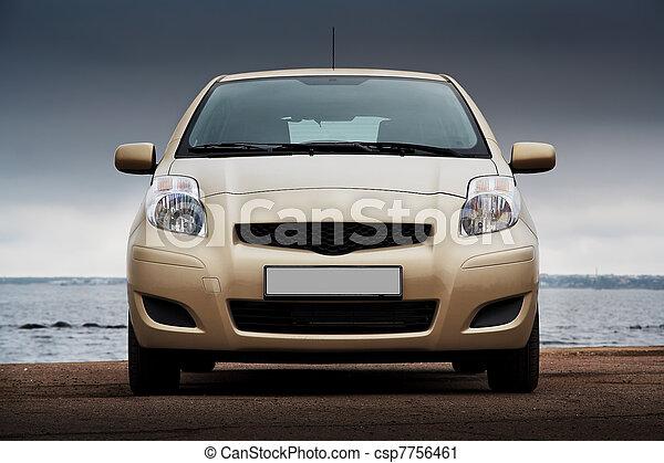 devant, voiture, beige, vue - csp7756461