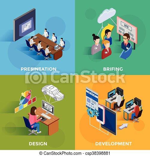 Development 2x2 Isometric Design Concept