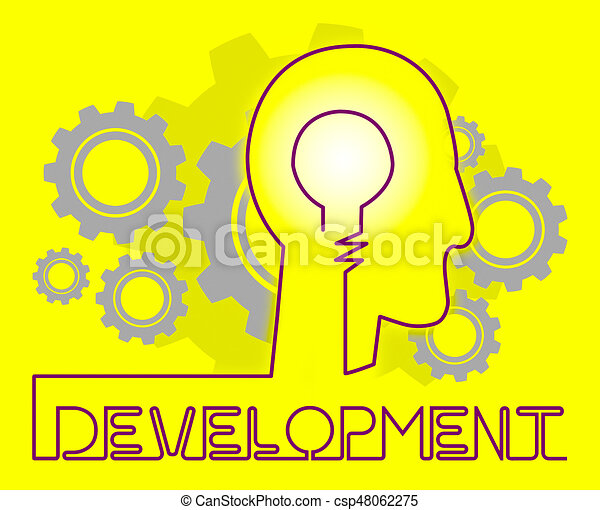 Development Cogs Meaning Growth Progress And Evolution Development