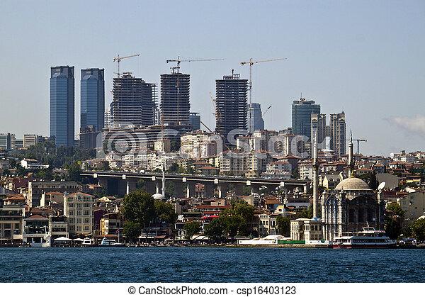 Development in growing Istanbul, Turkey - csp16403123
