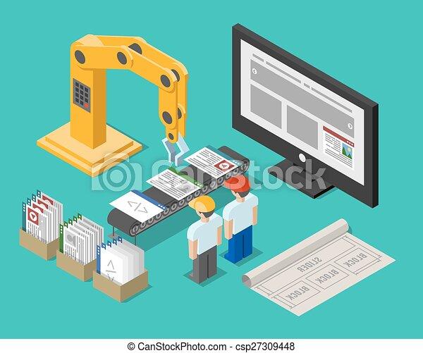 Development process web site interface - csp27309448