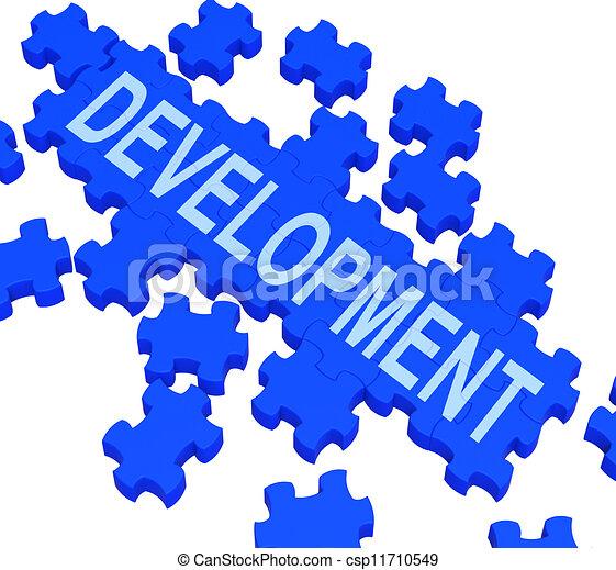 Development Puzzle Shows Business Improvement  - csp11710549