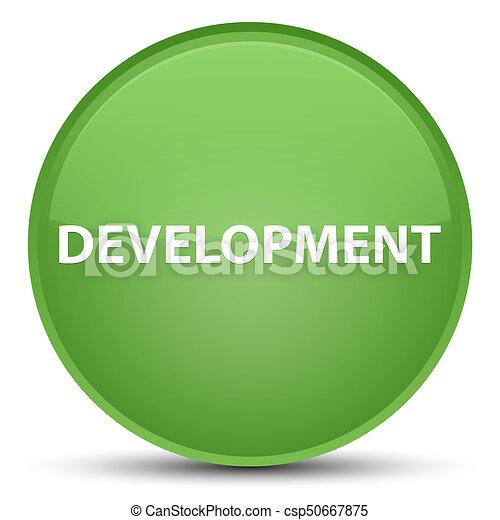 Development special soft green round button - csp50667875